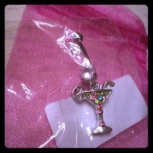 Martini glass belly ring